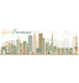 Abstract San Francisco Skyline vector image