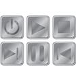 Aluminium Media Buttons vector image