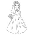 Bride in Black and White vector image