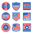 vintage made in the usa badges american vector image
