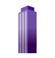 A view of a building vector image vector image
