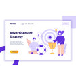 advertisement strategy web page banner vector image vector image