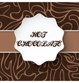 Art brown hot chocolate background card vector image