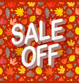 autumn sale season sale concept vector image