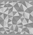 black and white polygonal texture vector image vector image