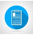 Blue icon for medical clipboard vector image vector image