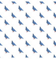 blue pigeon pattern seamless vector image