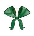 bow ribbon decoration christmas celebration vector image vector image