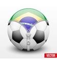 Brazil symbol inside soccer ball vector image vector image