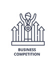 business competition line icon concept business vector image vector image