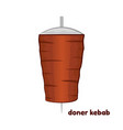 cartoon doner kebab vector image vector image