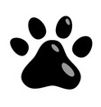 cats paw icon animals cat puppies mark foot vector image vector image