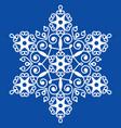 christmas winter snowflake design vector image