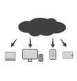 cloud technology icon web cloud technology vector image vector image