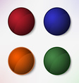 Color set of round blank buttons vector image vector image