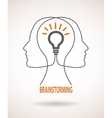 concept business idea and brainstorming vector image vector image