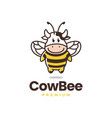 cow bee logo icon vector image
