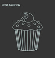 cupcake icon line element of vector image