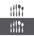 cutlery icons set vector image vector image