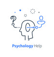 decision making psychology or psychiatry concept vector image vector image