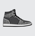 design elephant print sneakers vector image vector image