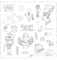 Egypt symbols set Sketches vector image