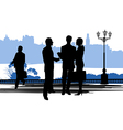 Enterprise business solutions vector image vector image