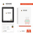fire brigade truck business logo tab app diary vector image