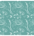 Fish crab and shrimp pattern vector image