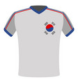 flag t-shirt of south korea vector image