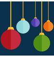 Flat design christmas balls vector image vector image