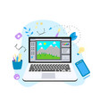 flat graphic drawing concept vector image