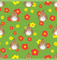 flat line color seamless pattern cute vector image