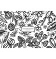 floral design with black and white ficus iresine vector image vector image