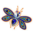 fly figurine made precious stones in form vector image vector image