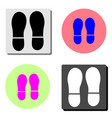footprint flat icon vector image