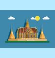 grand palace golden pagoda bangkok thailand vector image vector image
