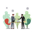 handshake in business company vector image vector image