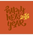 Happy new 2016 year lettering vector image vector image