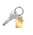 house key isolated vector image