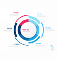 infographic round chart template six vector image vector image