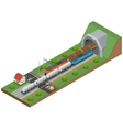 isometric of a railway vector image vector image