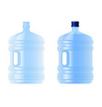 large plastic bottle with water volume five vector image vector image