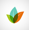 Logo plants with colorful leaves vector image