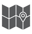 map glyph icon location and travel direction vector image
