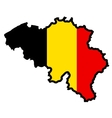 Map in colors of Belgium vector image vector image