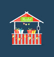 market counter with candies in boxes shop vector image vector image