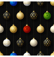 merry christmas bowling seamless pattern hang vector image vector image