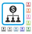 money recipients framed icon vector image vector image