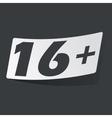 Monochrome 16 plus sticker vector image vector image